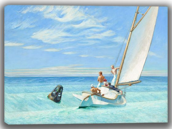 Hopper, Edward: Ground Swell. Fine Art Canvas. Sizes: A4/A3/A2/A1 (004179)